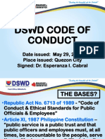 Dswd Code of Conduct
