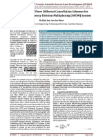 Comparison of Three Different Cancellation Schemes for Orthogonal Frequency Division Multiplexing OFDM System