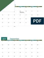 Academic Calendar (2019)