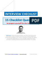 15 Interview Checklist Questions - Sohaib Hasan
