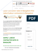 Labor Contractor Rates in Bangalore is Rs 220 to 230 _ Sq Ft Find Labour Contractor Rates at Bangalore