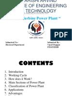 gas turnine power plant