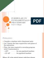 Fundamentals of Dsp Processors Formulae