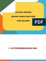 EVALUASI HUMAS % PSDM ( SMESTER I).pptx