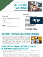 Asistente de Obra - Residente - Supervisor