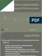 Triangulation and Trilateritation