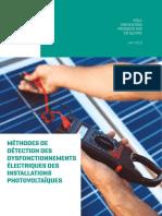 Methodes de detection des dysfonctionnements électriques sur installations photovoltaiques