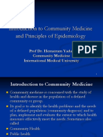E1 Introduction to Community Medicine and Principles of Epidemiology Copy