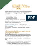 Planificación de Los Requerimientos de Material MRP