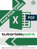 Excel Pivot Tables Tutorial