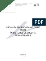 Organizarea Programelor de Studii În Sistemul de Credite Transferabile