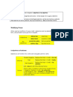Adjectives-2 Page Overview PDF