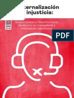 Resumen del Informe 'Externalización e injusticia', de UNI Global Union