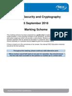 NSC Exam Mark Scheme Autumn 2018