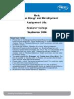 DDD Assignment Autumn 2018