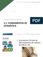 2.1. Fundamentos de Estadística
