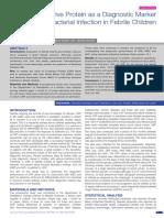 CRP as a Diagnostic Marker