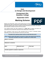 DDD Assignment Mark Scheme Autumn 2018