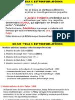 TEMA II Estructura Atómica
