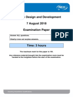 DDD Exam Autumn 2018