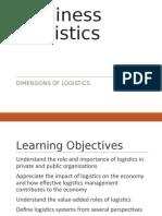 Dimension of Logistics II