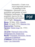 Fernando Amorsolo y Cueto was one of the most important artists in the history of painting in the Philippines.docx