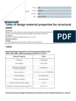 Table of Material Properties for Structural Steel S235, S275, S355, S420