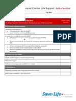 ACLS Skills Checklist