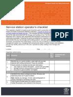 Service Station Operators Checklist