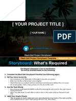 Black Belt Project Storyboard Template v3.2 GoLeanSixSigma.com