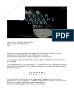 20 Lydian Dominant Licks