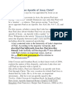 Was Paul a True Apostle of Jesus Christ