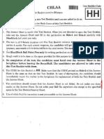 2018 NEET Question Paper Code  HH