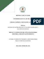 Estudio de Factibilidad de Un Taller de Alineación y Balanceo de Ruedas.