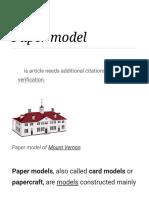 Paper Model - Wikipedia