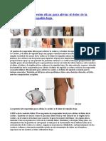 12 Puntos de Acupresión Eficaz Para Aliviar El Dolor de La Cadera y de La Espalda Baja