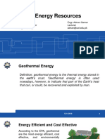 Geothermal Energy M.sc. Energy 2018