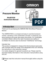 Omron RS6 Wrist Blood Pressure Monitor Instruction Manual (English)