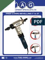 Prep 3 Pipe Bevelling Machine Brochure 2017