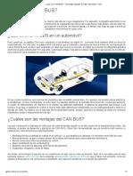 ¿Qué Es El CAN BUS_ - Tecnología Aplicada Al Sector Automotriz - Chile
