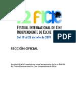 42 Festival Internacional de Cine Independiente de Elche. Sección Oficial en Conjunto. Fundación Caja Mediterráneo