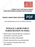 FEMALE LABOR FORCE PARTICIPATION IN INDIA PPT.pptx