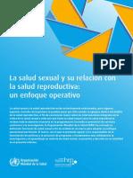 Organizacion Mundial de La Salud y Sexualidad