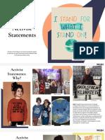 Activist Statements