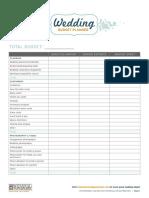 Wedding Planning Budget Sheet(6)