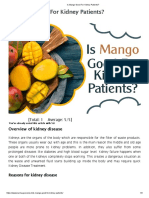 Is Mango Good for Kidney Patients