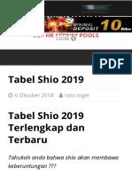 Tabel Shio 2019 Prediksi Jitu Sgp Hk Sydney Hari Ini