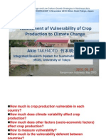 Assessment of Vulnerability of Crop Production to Climate Change