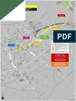 Les consignes d'arrivée sur la zone de départ du TDF