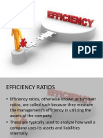 Efficiency Ratios